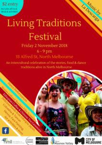 Living Traditions Festival Flyer